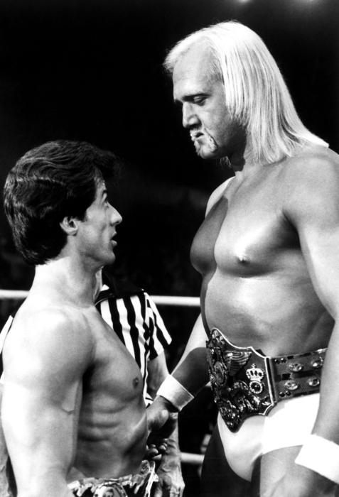 Hulk Hogan's minatory confrontation with Rocky Balboa