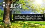 Refulgent — High Vocabulary Word of the Day
